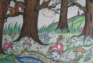 Het grote sprookjesbos waar Heksemientje woont.