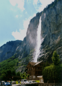 Staubbachfall in Lauterbrunnenthal die we na onze vakantie aan de Vierwaldstättersee mochten bewonderen