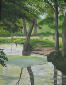 Schilderijen: Romantisch beekje in Stein