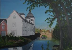 Een van de schilderijen toont het kasteel van Stein.