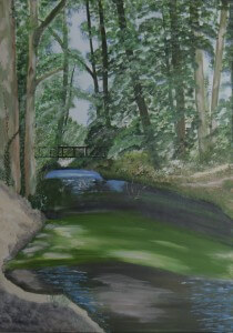 Schilderijen: Stein, de putbeek