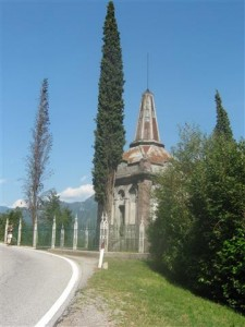 Het monument van Garibaldi ligt vlak bij Trento.