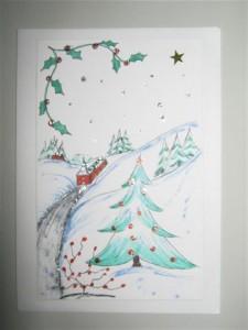 Als het tekenen een hobby van u is, leef u dan uit in het maken van verschillende soorten kerstkaarten. Laat uw fantasie maar werken.