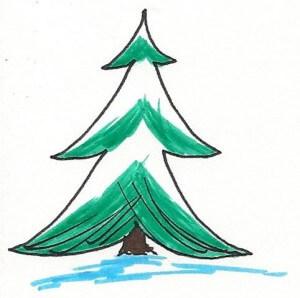Het kerst verhaal: de spar werd na kerstmis in de mooie, grote tuin van het huis gezet en was daar zijn hele leven lang gelukkig en tevreden.