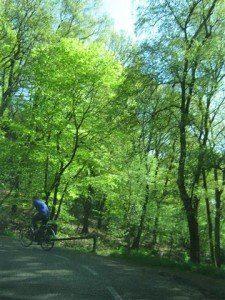 In Zuid-Limburg, waar Anneke Cornelissens woont, komen veel fietsers in de mooie heuvels oefenen.